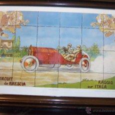 Arte: TRES GRABADOS DE COCHES ANTIGUOS. Lote 46497352