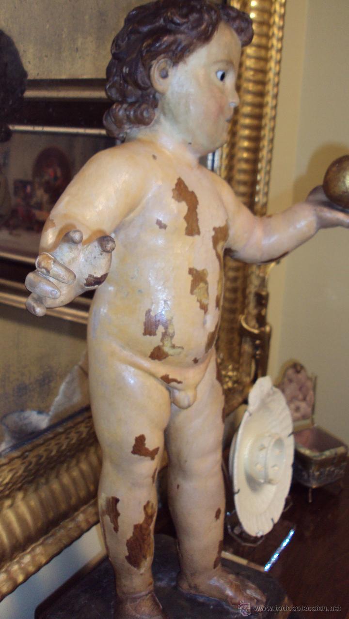 Arte: Escultura Niño de La Bola - Madera Policromada - Foto 3 - 46526818