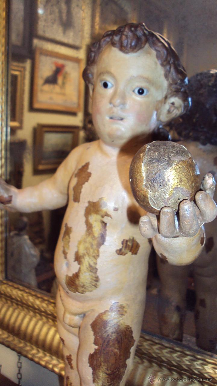 Arte: Escultura Niño de la Bola - Siglo XVIII - Madera Policromada - - Foto 4 - 46526818