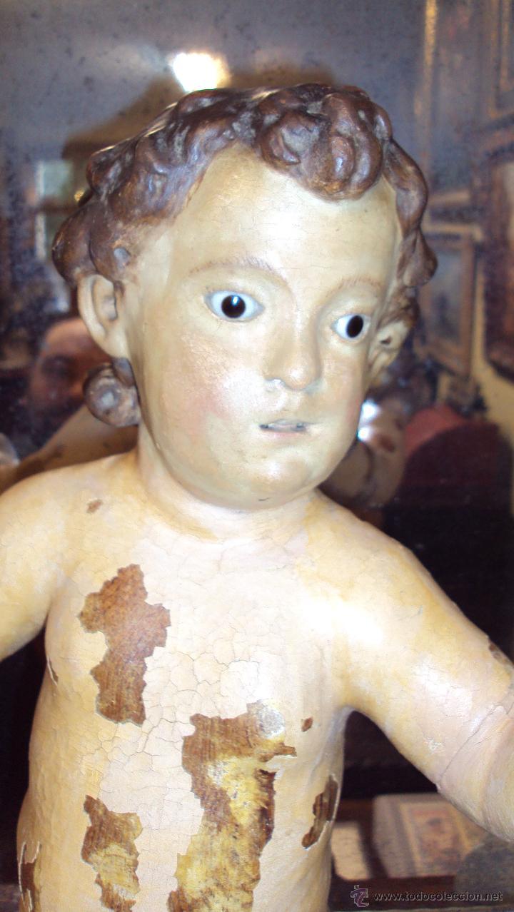 Arte: Escultura Niño de la Bola - Siglo XVIII - Madera Policromada - - Foto 5 - 46526818