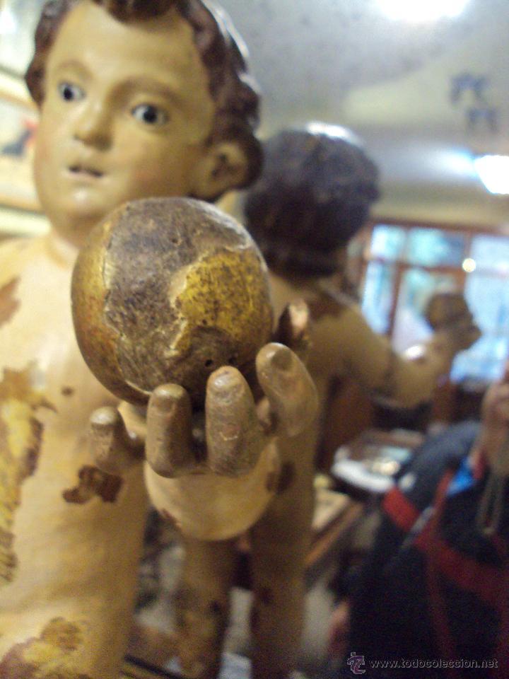 Arte: Escultura Niño de la Bola - Siglo XVIII - Madera Policromada - - Foto 6 - 46526818