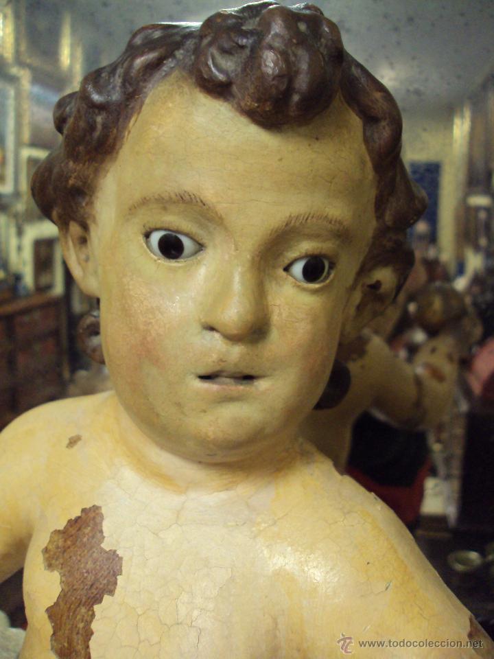 Arte: Escultura Niño de La Bola - Madera Policromada - Foto 8 - 46526818