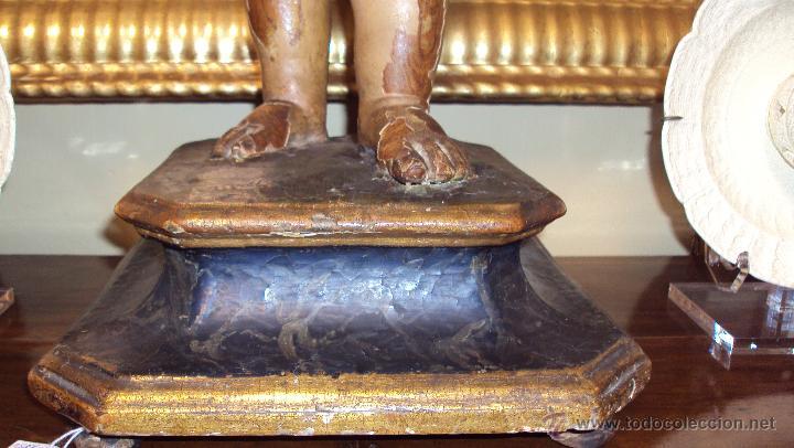 Arte: Escultura Niño de la Bola - Siglo XVIII - Madera Policromada - - Foto 9 - 46526818