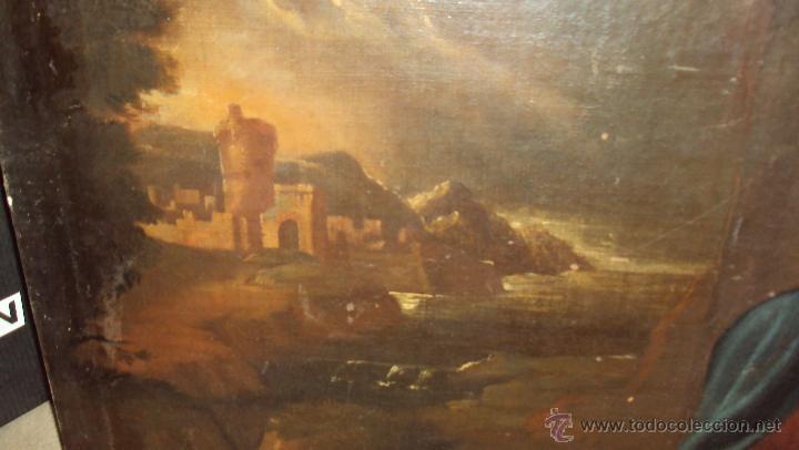 Arte: Oleo Sobre Lienzo del Siglo XVIII Virgen Niño y San Juanito - Marqués de Almunia - Foto 4 - 46527392
