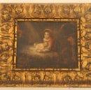 Arte: ANTIGUO OLEO SOBRE COBRE SIGLO XVIII CON IMAGEN DE LA VIRGEN Y EL NIÑO – ANONIMO MAGNIFICAMENTE ENMA. Lote 46591398