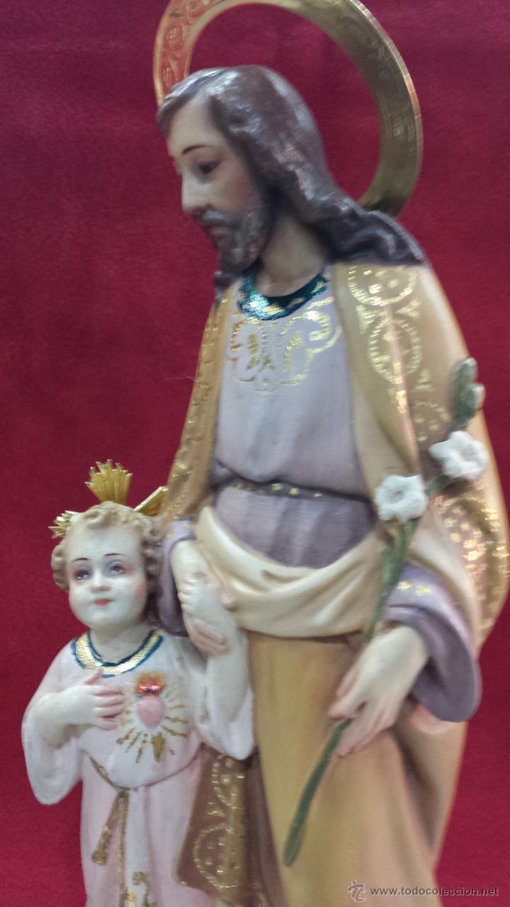 SAN JOSÉ CON JESÚS DE LA MANO (Arte - Arte Religioso - Escultura)