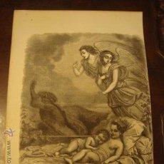 Arte: ANTIGUO GRABADO RELIGIOSO , ANGELES Y NIÑOS JESUS, G. STALLA DEL. BEST. HOTELIN REGNIERR. 23,5 X 16 . Lote 33769334