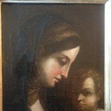 Arte: OLEO SOBRE TELA, VIRGEN CON EL NIÑO, ESCUELA SEVILLANA ??, SIGLO XVII, EN MUY BUEN ESTADO. Lote 46922592