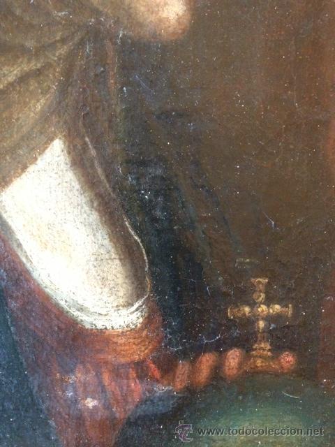Arte: OLEO SOBRE TELA, VIRGEN CON EL NIÑO, ESCUELA SEVILLANA ??, SIGLO XVII, EN MUY BUEN ESTADO - Foto 4 - 46922592