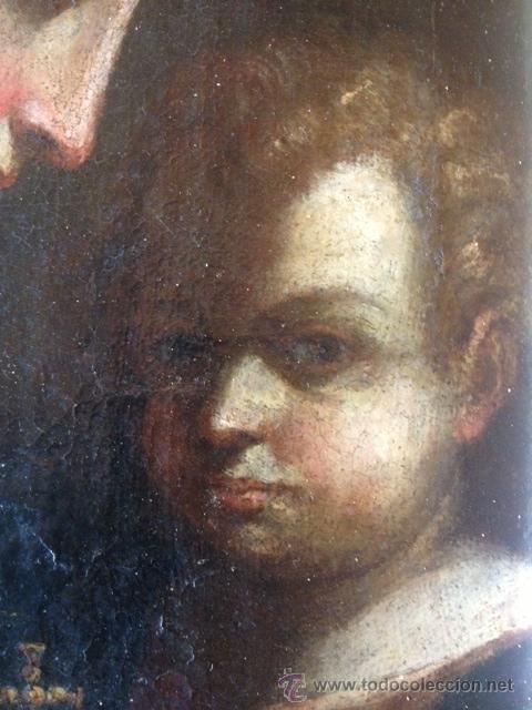 Arte: OLEO SOBRE TELA, VIRGEN CON EL NIÑO, ESCUELA SEVILLANA ??, SIGLO XVII, EN MUY BUEN ESTADO - Foto 5 - 46922592