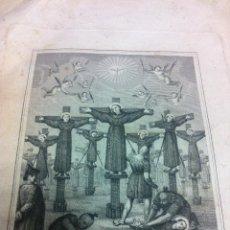 Arte: ANTIGUO GRABADO REPRESENTANDO EL MARTIRIO DE SAN MARTÍN - 1862 - TEXTO EN ITALIANO -. Lote 46928209