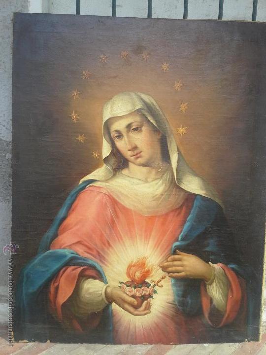 OLEO SOBRE LIENZO SIGLO XVIII (Arte - Arte Religioso - Pintura Religiosa - Oleo)