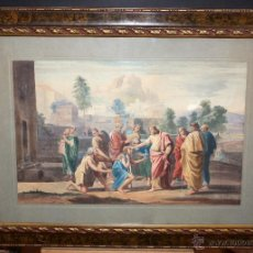 Arte: ANTONI CERVETO I RIBA (TORTOSA 1876 - 1938) ACUARELA SOBRE PAPEL DE TEMA RELIGIOSO FECHADA DEL 1906. Lote 46993452