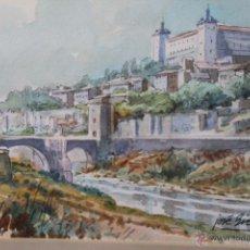 Arte: ACUARELA DE JOSÉ BIELSA. ES UN TOLEDO DE 20 X 15 CM. Lote 47066233