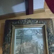 Arte: ANTIGUO GRABADO SIGLO XVII CON MARCO MUY ANTIGUO.. Lote 47084204