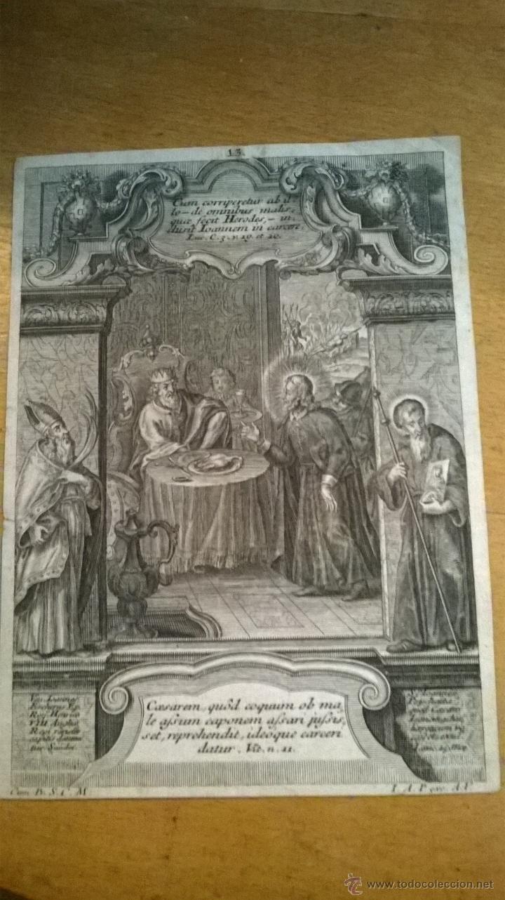 Arte: ANTIGUO GRABADO SIGLO XVII con marco muy antiguo. - Foto 2 - 47084204