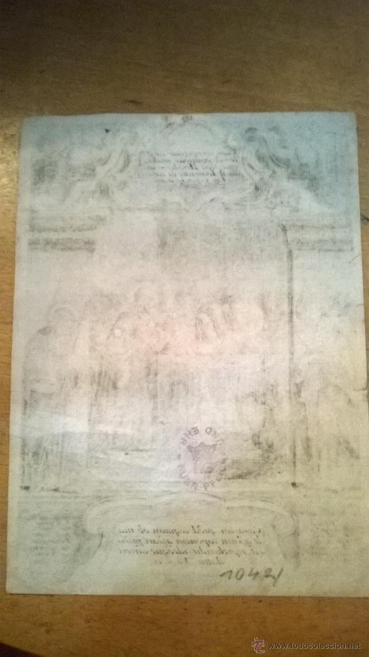 Arte: ANTIGUO GRABADO SIGLO XVII con marco muy antiguo. - Foto 3 - 47084204