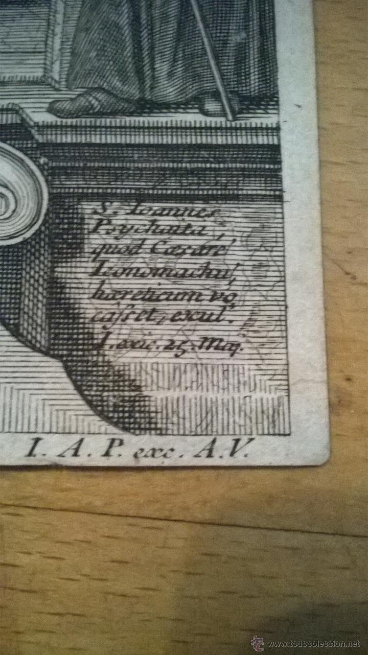 Arte: ANTIGUO GRABADO SIGLO XVII con marco muy antiguo. - Foto 5 - 47084204