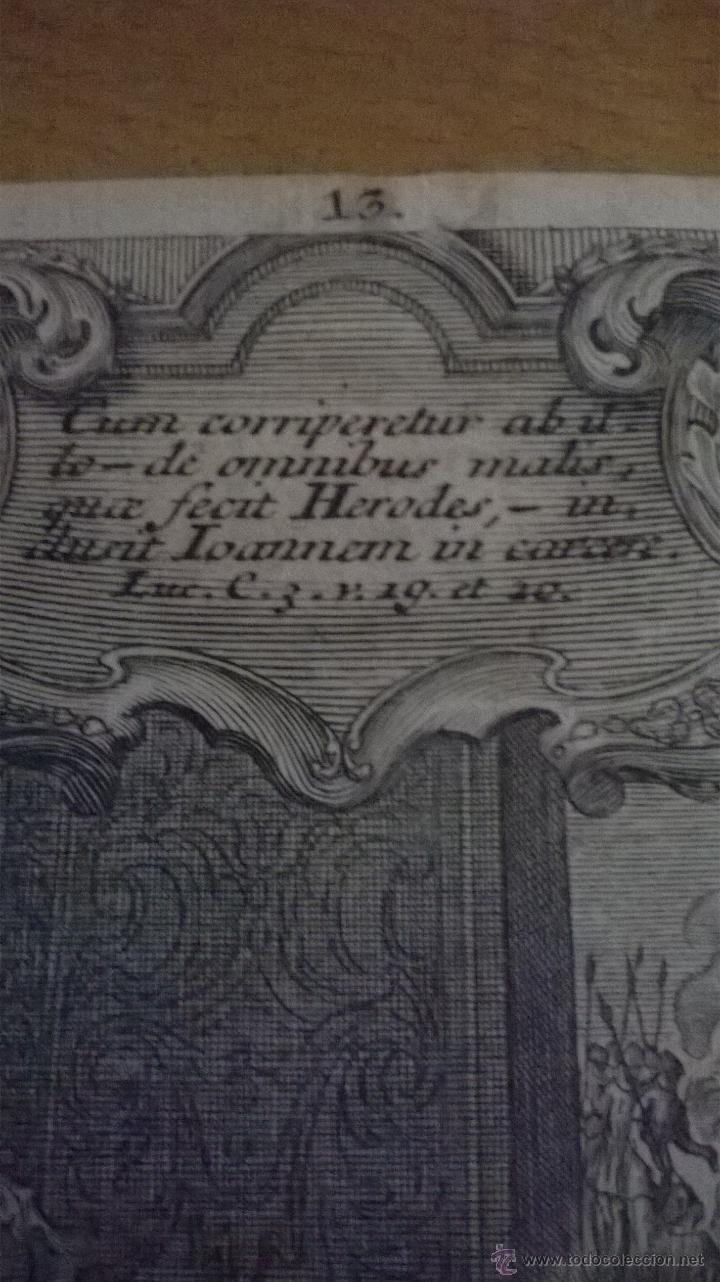 Arte: ANTIGUO GRABADO SIGLO XVII con marco muy antiguo. - Foto 6 - 47084204