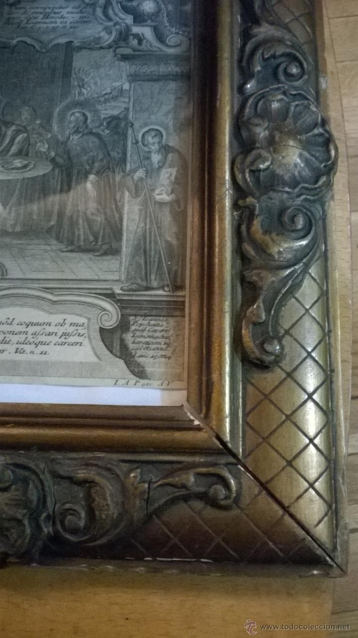 Arte: ANTIGUO GRABADO SIGLO XVII con marco muy antiguo. - Foto 7 - 47084204