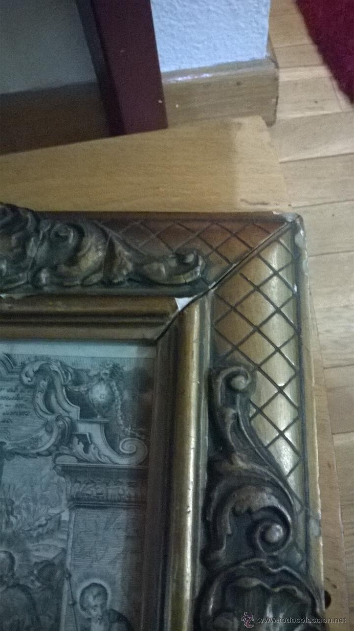 Arte: ANTIGUO GRABADO SIGLO XVII con marco muy antiguo. - Foto 8 - 47084204