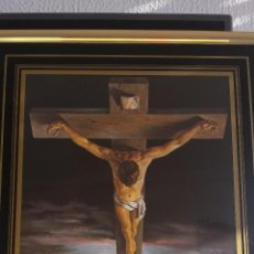 Arte: CUADRO DEL CRISTO DE DALÍ, VICENTE ROSO, PERFECTO ESTADO, 53 CMS. ALTO X 43 CMS. ANCHO X 1,50 FONDO.. Lote 47088204