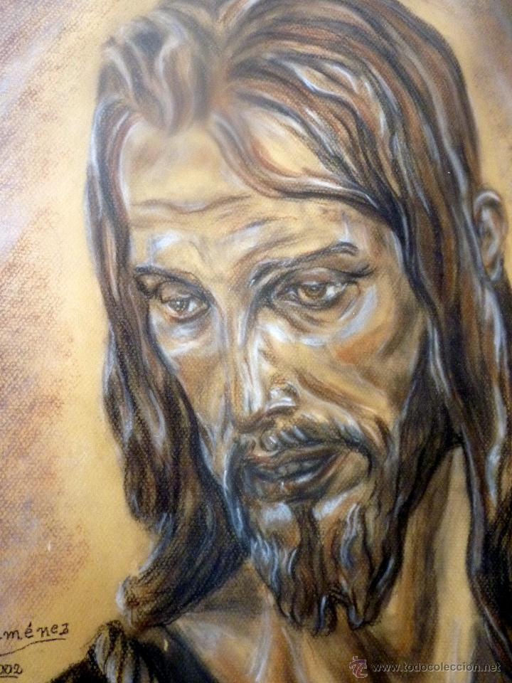 MARAVILLOSO RETRATO DEL CRISTO DE BENLLIURE JESUS NAZARENO DEL PASO MÁLAGA (Arte - Arte Religioso - Pintura Religiosa - Otros)