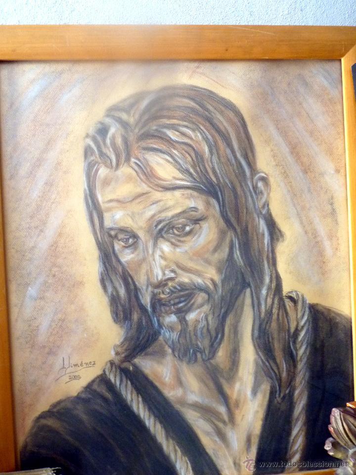Arte: MARAVILLOSO RETRATO DEL CRISTO DE BENLLIURE JESUS NAZARENO DEL PASO MÁLAGA - Foto 3 - 47134908
