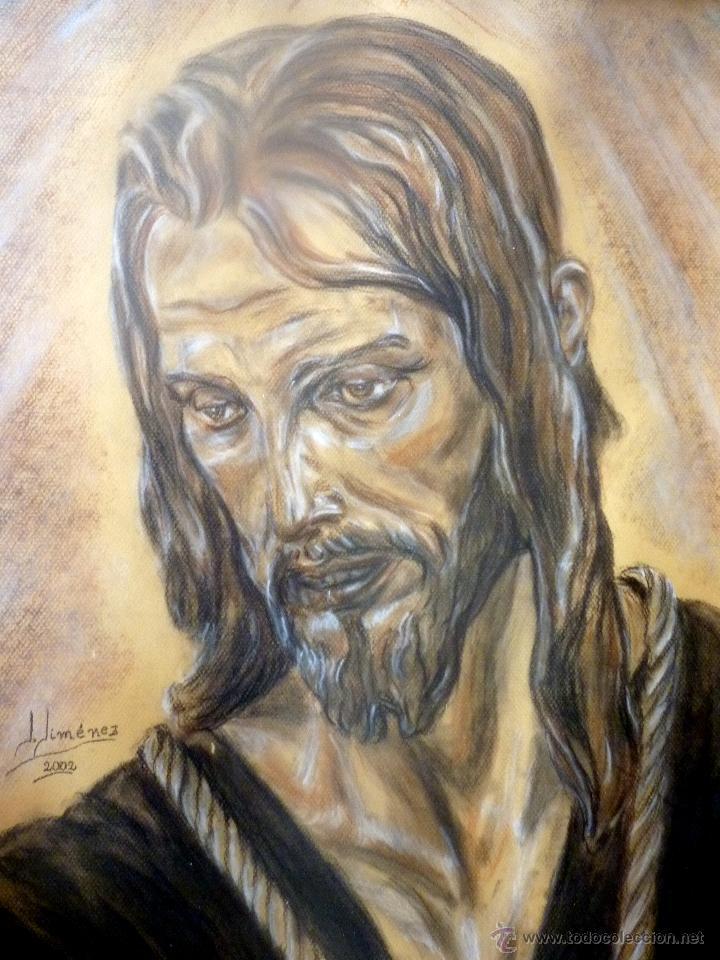 Arte: MARAVILLOSO RETRATO DEL CRISTO DE BENLLIURE JESUS NAZARENO DEL PASO MÁLAGA - Foto 5 - 47134908