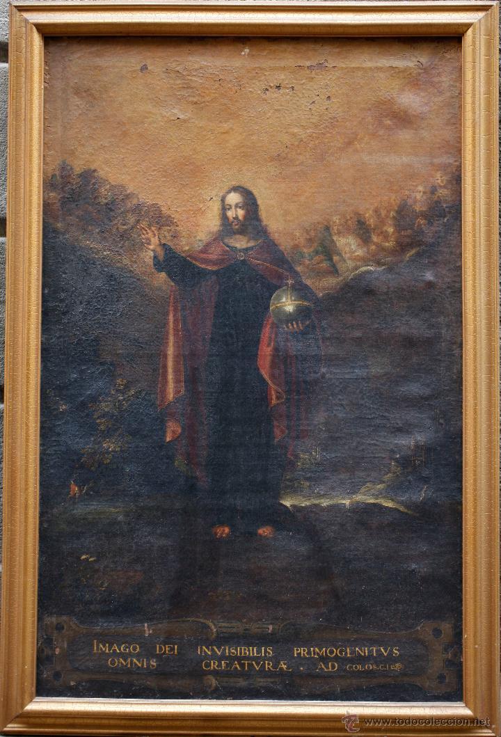 PINTURA RELIGIOSA, FINALES S.XVIII. ÓLEO SOBRE TELA 70X109 CM. MARCO: 81X119 CM. VER FOTOS ANEXAS (Arte - Arte Religioso - Pintura Religiosa - Oleo)
