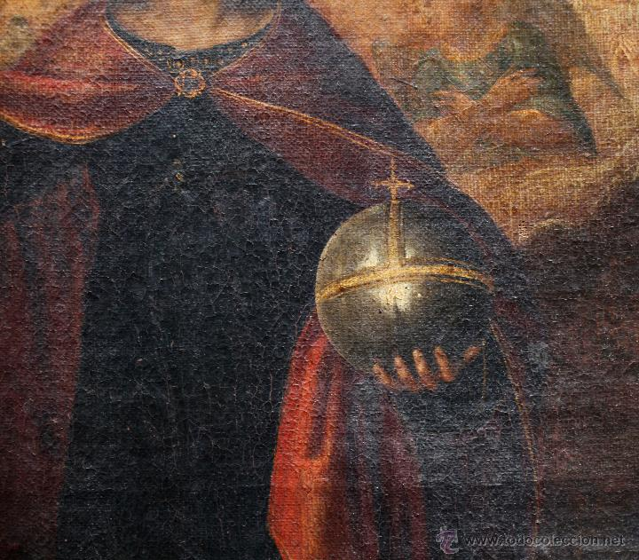 Arte: Pintura religiosa, finales s.XVIII. óleo sobre tela 70x109 cm. Marco: 81x119 cm. Ver fotos anexas - Foto 4 - 47160443