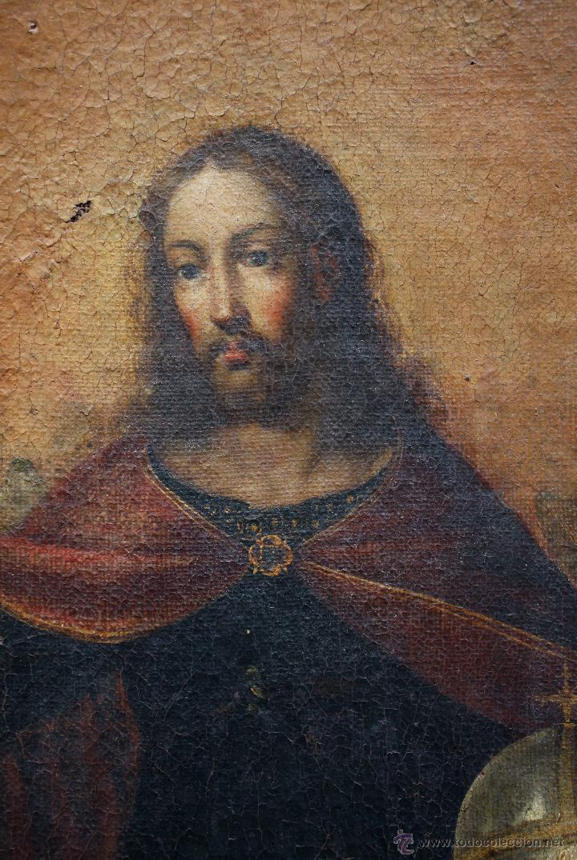 Arte: Pintura religiosa, finales s.XVIII. óleo sobre tela 70x109 cm. Marco: 81x119 cm. Ver fotos anexas - Foto 5 - 47160443