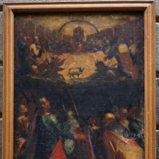 Arte: PINTURA RELIGIOSA, FINALES S.XVIII. ÓLEO SOBRE TELA 70X109 CM. MARCO: 81X119 CM. VER FOTOS ANEXAS. Lote 47160499