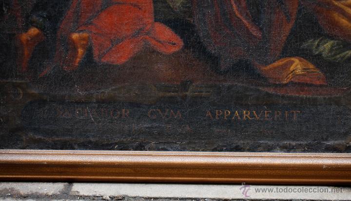 Arte: Pintura religiosa, finales s.XVIII. óleo sobre tela 70x109 cm. Marco: 81x119 cm. Ver fotos anexas - Foto 3 - 47160499