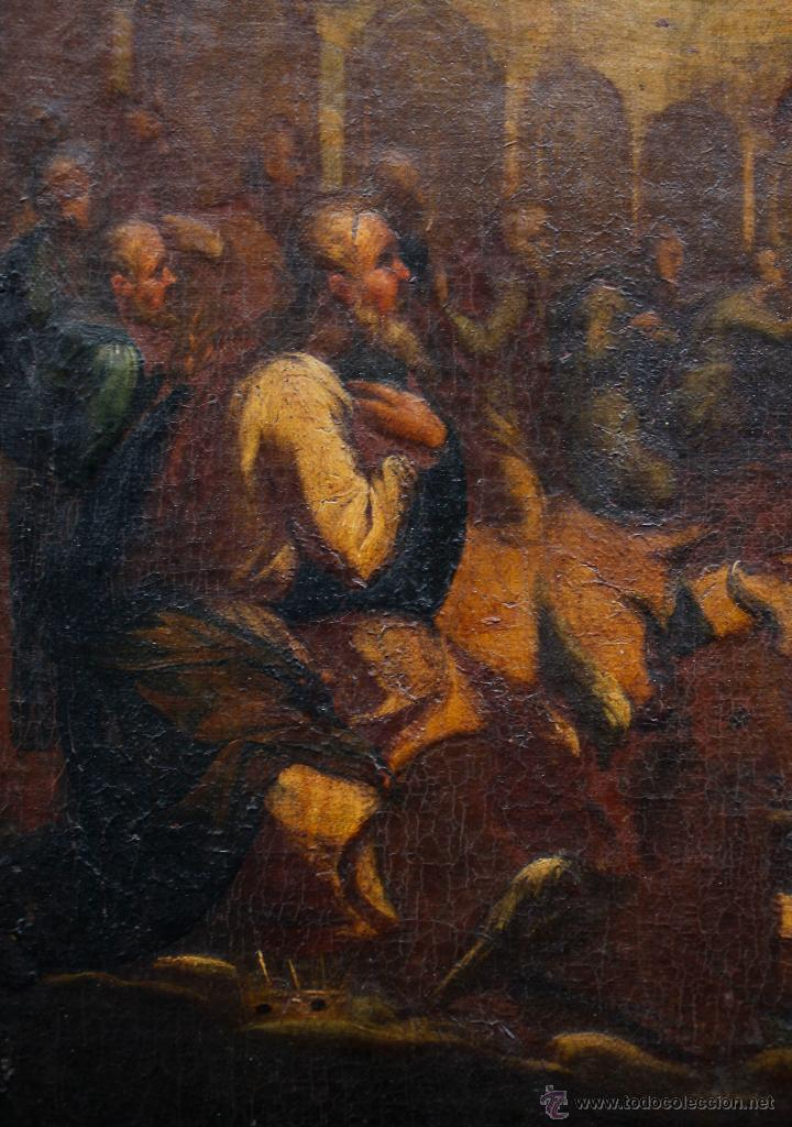 Arte: Pintura religiosa, finales s.XVIII. óleo sobre tela 70x109 cm. Marco: 81x119 cm. Ver fotos anexas - Foto 4 - 47160499