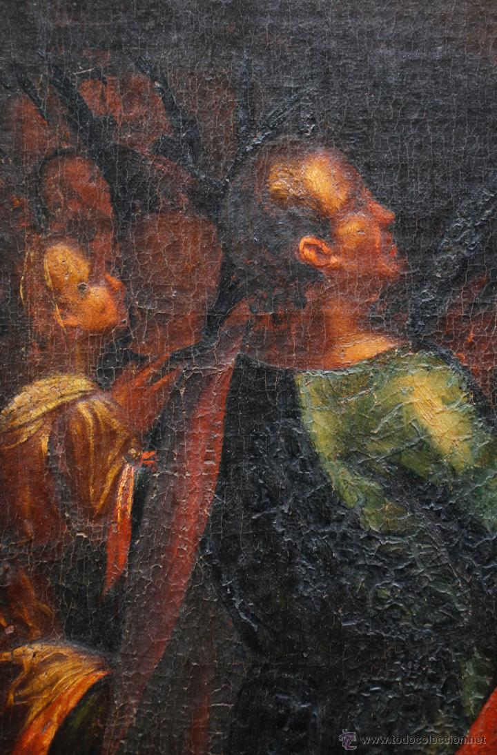 Arte: Pintura religiosa, finales s.XVIII. óleo sobre tela 70x109 cm. Marco: 81x119 cm. Ver fotos anexas - Foto 6 - 47160499