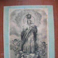 Arte: LA PURÍSIMA CONCEPCIÓN DE CELAYA.AÑO 1857.GRABADO.IMPRESO EN MÉXICO.. Lote 47415373