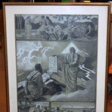 Arte: DIONÍS BAIXERAS VERDAGUER (BARCELONA, 1862 - 1943) TÉCNICA MIXTA SOBRE PAPEL. ESCENAS RELIGIOSAS. Lote 47478198