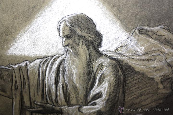 Arte: DIONÍS BAIXERAS VERDAGUER (BARCELONA, 1862 - 1943) TÉCNICA MIXTA SOBRE PAPEL. ESCENAS RELIGIOSAS - Foto 4 - 47478198