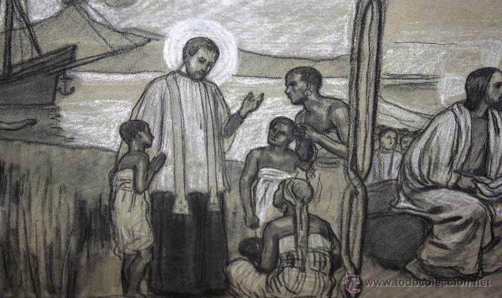Arte: DIONÍS BAIXERAS VERDAGUER (BARCELONA, 1862 - 1943) TÉCNICA MIXTA SOBRE PAPEL. ESCENAS RELIGIOSAS - Foto 5 - 47478198