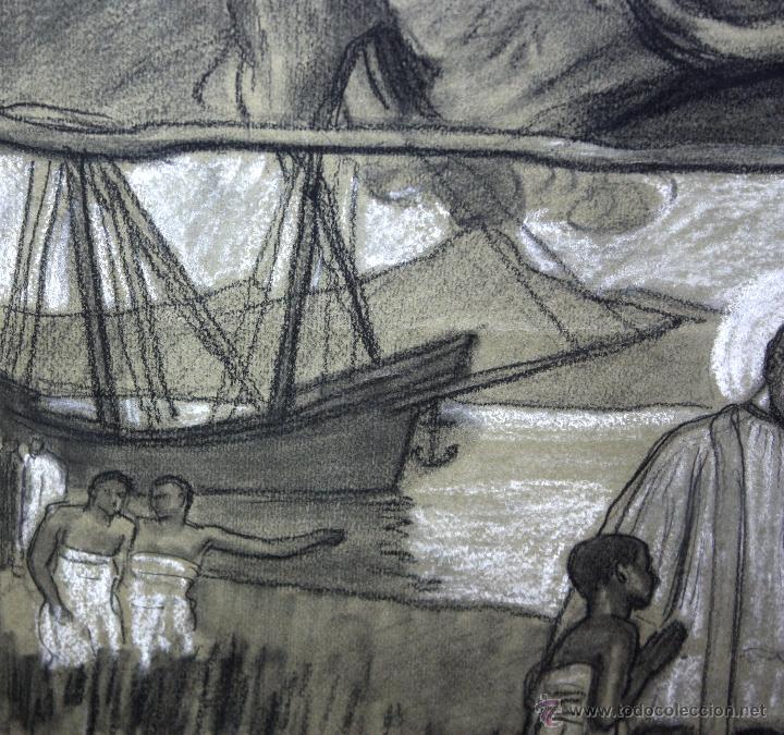 Arte: DIONÍS BAIXERAS VERDAGUER (BARCELONA, 1862 - 1943) TÉCNICA MIXTA SOBRE PAPEL. ESCENAS RELIGIOSAS - Foto 6 - 47478198