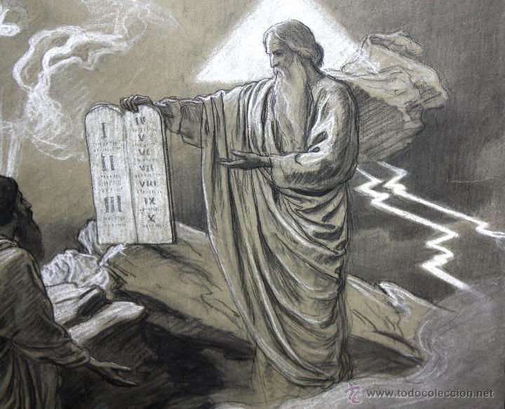 Arte: DIONÍS BAIXERAS VERDAGUER (BARCELONA, 1862 - 1943) TÉCNICA MIXTA SOBRE PAPEL. ESCENAS RELIGIOSAS - Foto 7 - 47478198