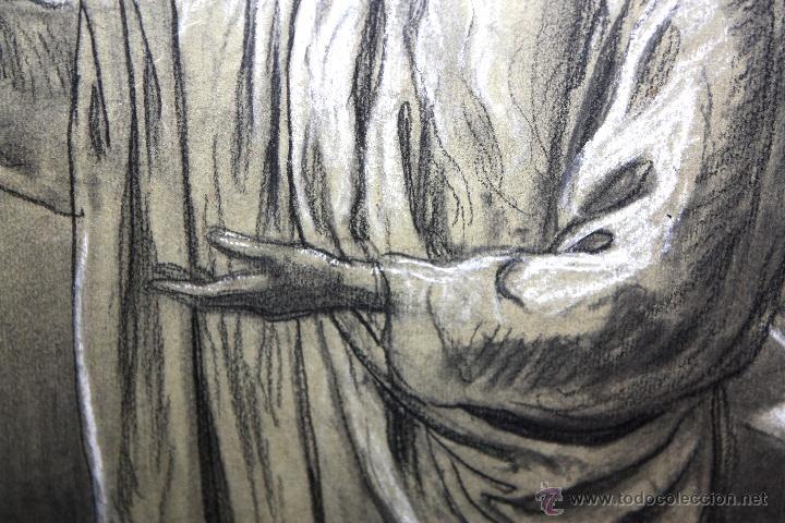 Arte: DIONÍS BAIXERAS VERDAGUER (BARCELONA, 1862 - 1943) TÉCNICA MIXTA SOBRE PAPEL. ESCENAS RELIGIOSAS - Foto 8 - 47478198
