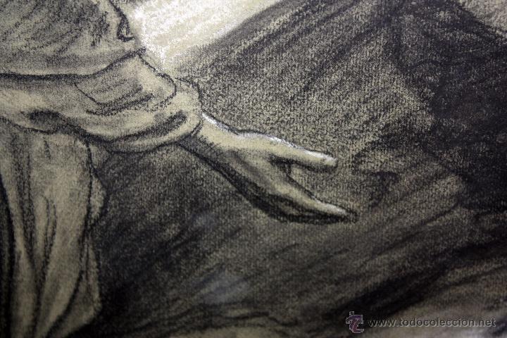 Arte: DIONÍS BAIXERAS VERDAGUER (BARCELONA, 1862 - 1943) TÉCNICA MIXTA SOBRE PAPEL. ESCENAS RELIGIOSAS - Foto 10 - 47478198