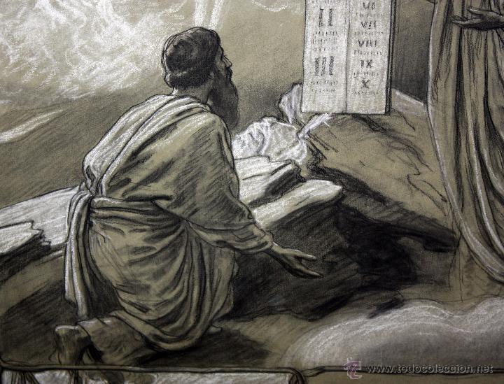 Arte: DIONÍS BAIXERAS VERDAGUER (BARCELONA, 1862 - 1943) TÉCNICA MIXTA SOBRE PAPEL. ESCENAS RELIGIOSAS - Foto 12 - 47478198