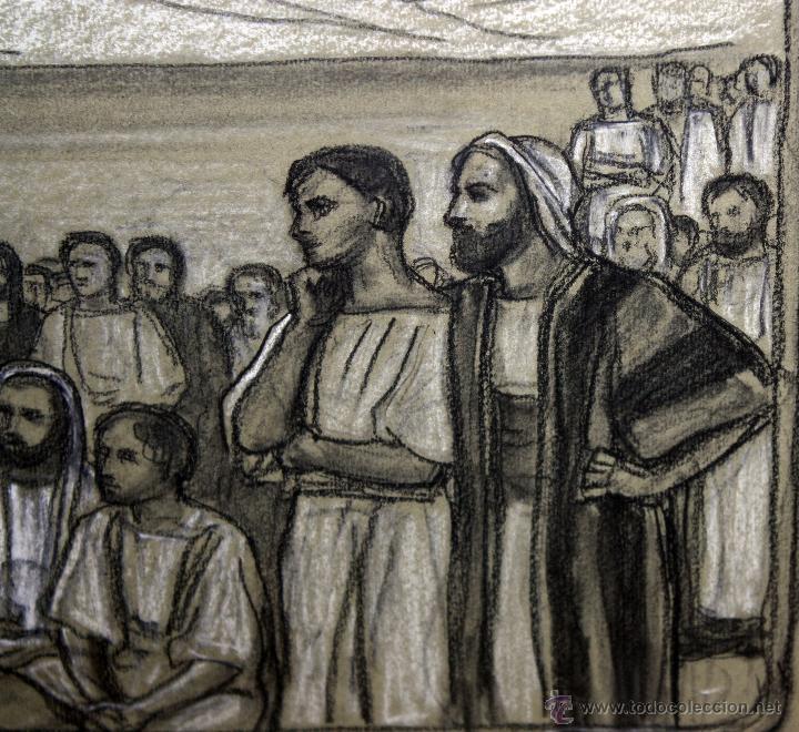 Arte: DIONÍS BAIXERAS VERDAGUER (BARCELONA, 1862 - 1943) TÉCNICA MIXTA SOBRE PAPEL. ESCENAS RELIGIOSAS - Foto 13 - 47478198