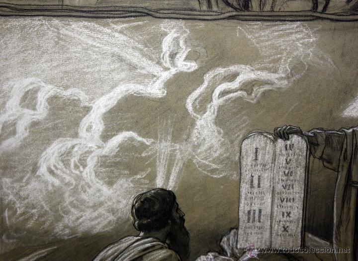 Arte: DIONÍS BAIXERAS VERDAGUER (BARCELONA, 1862 - 1943) TÉCNICA MIXTA SOBRE PAPEL. ESCENAS RELIGIOSAS - Foto 14 - 47478198