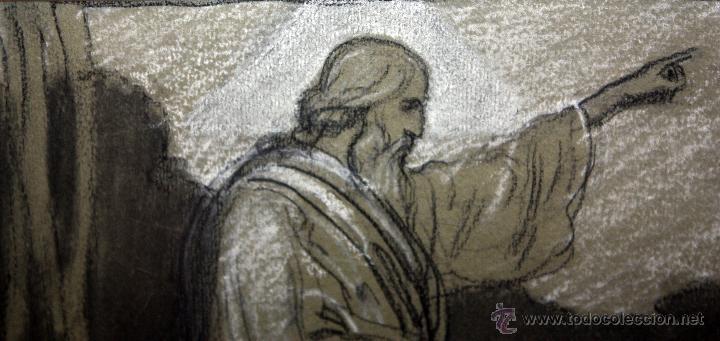 Arte: DIONÍS BAIXERAS VERDAGUER (BARCELONA, 1862 - 1943) TÉCNICA MIXTA SOBRE PAPEL. ESCENAS RELIGIOSAS - Foto 16 - 47478198