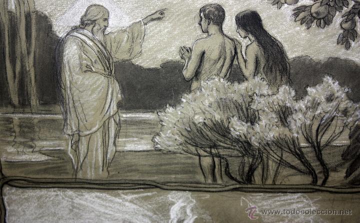 Arte: DIONÍS BAIXERAS VERDAGUER (BARCELONA, 1862 - 1943) TÉCNICA MIXTA SOBRE PAPEL. ESCENAS RELIGIOSAS - Foto 17 - 47478198