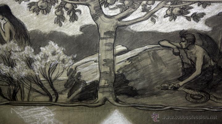 Arte: DIONÍS BAIXERAS VERDAGUER (BARCELONA, 1862 - 1943) TÉCNICA MIXTA SOBRE PAPEL. ESCENAS RELIGIOSAS - Foto 18 - 47478198